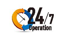 24時間オペレーション