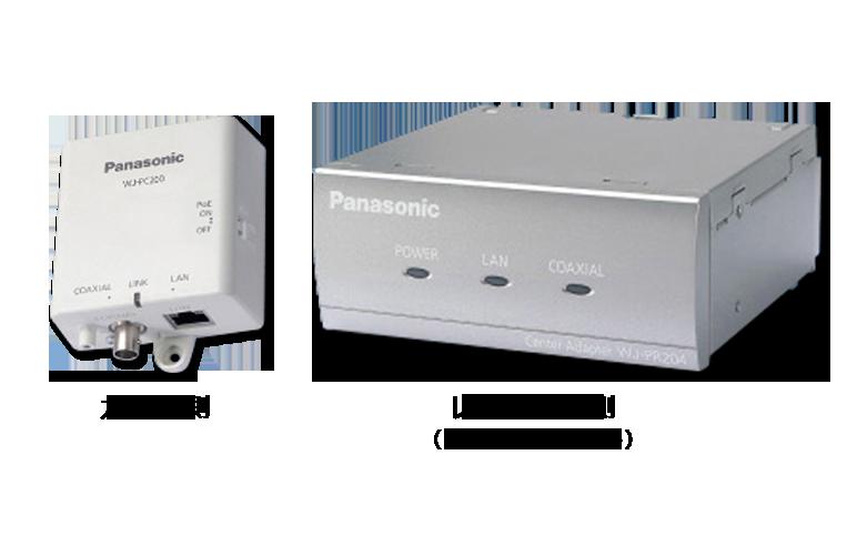 PoE給電機能付 同軸-LANコンバーター WJ-PR204/WJ-PR201/WJ-PC200