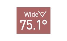 水平画角75.1°