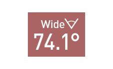 水平画角74.1°