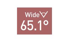 水平画角65.1°