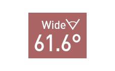 水平画角61.6°