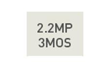 220万画素 3MOSセンサー