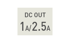 DC OUT 1A/2.5A