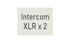INTERCOM XLR ×2端子