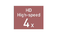 HDハイスピードモード4倍速